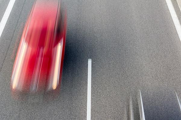 speeding vehicle