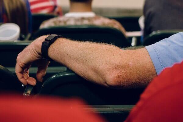 man wearing a fitbit