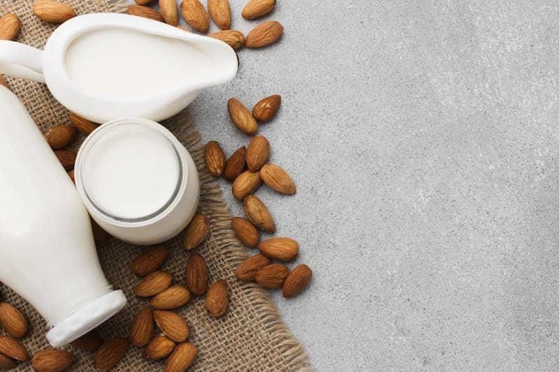 ingredientes para leche de almendra