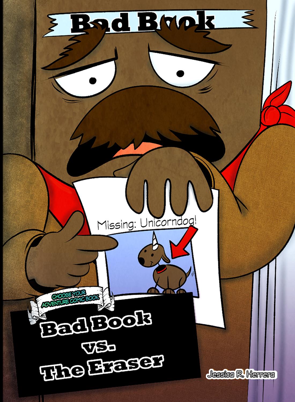 Bad Book vs. Eraser Choose Your Adventure Comic Cover
