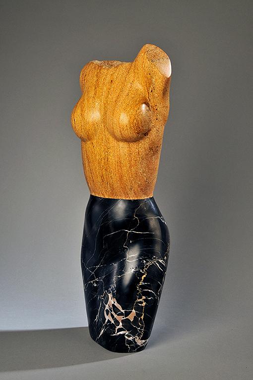 stone figurative torso sculpture