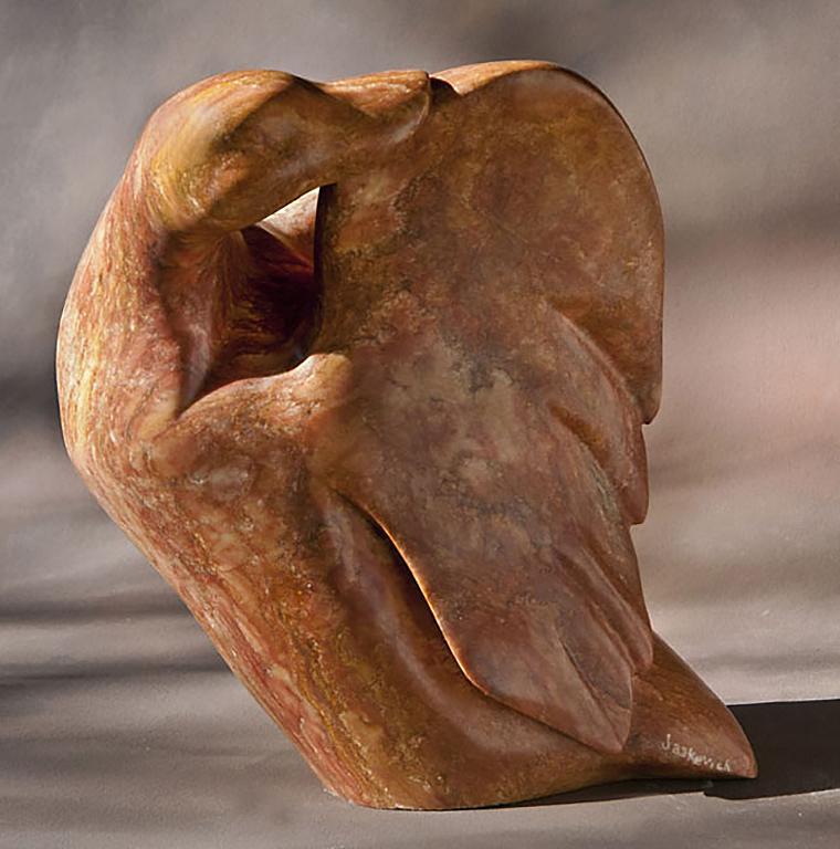 stone bird sculpture
