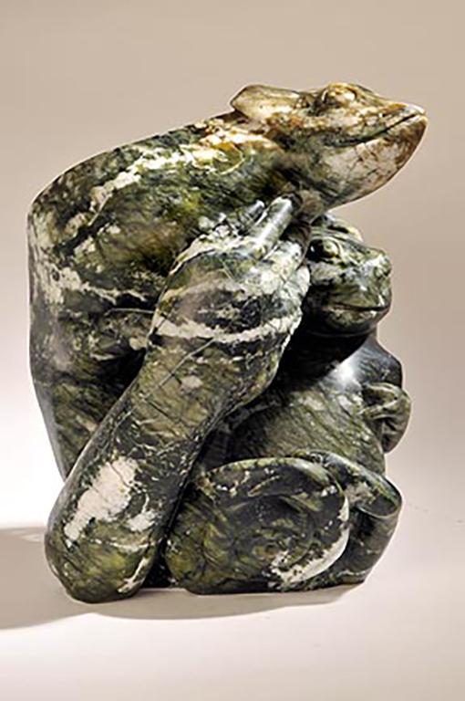 stone Chameleon  lizard sculpture