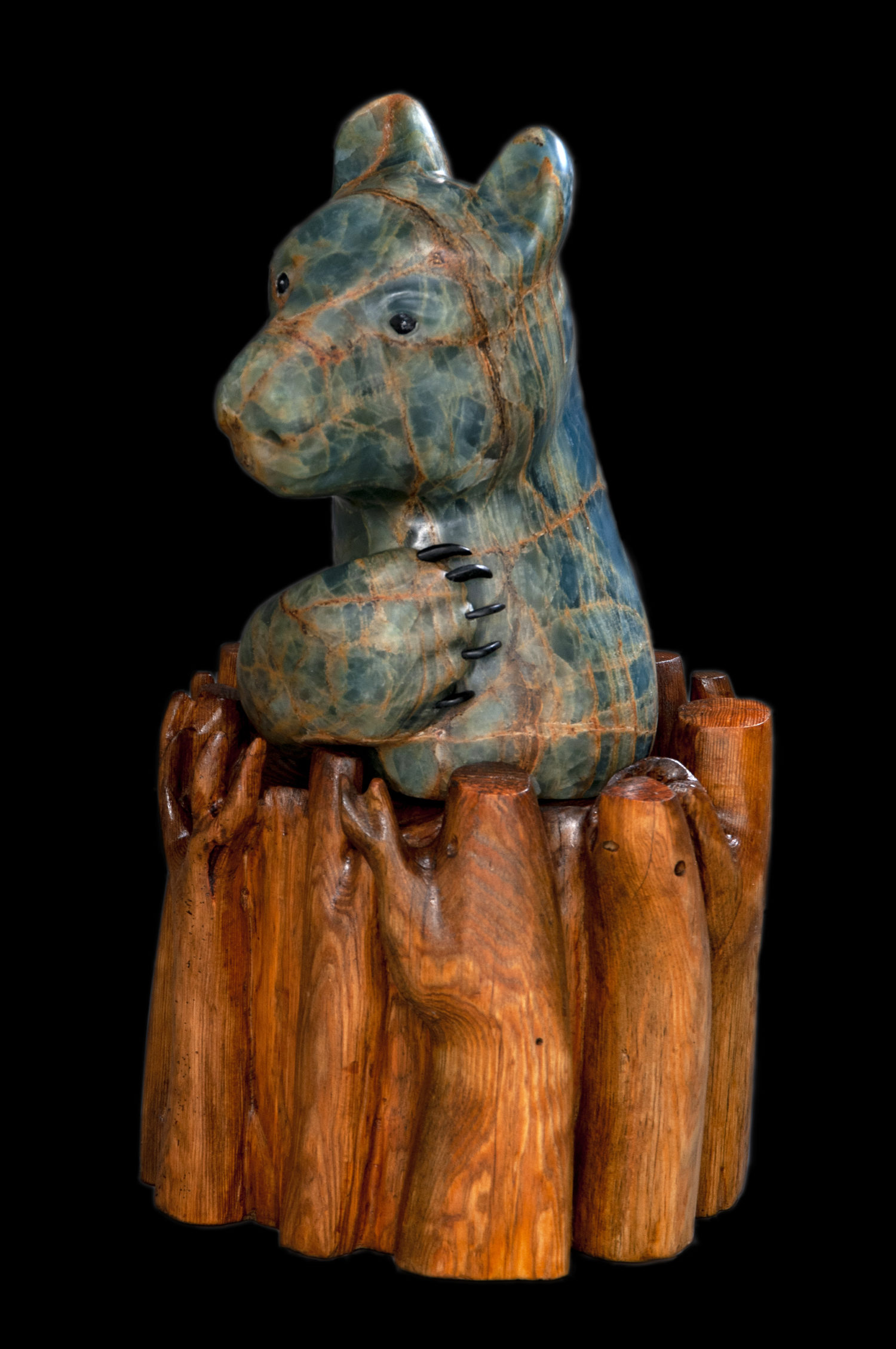 animal stone sculpture