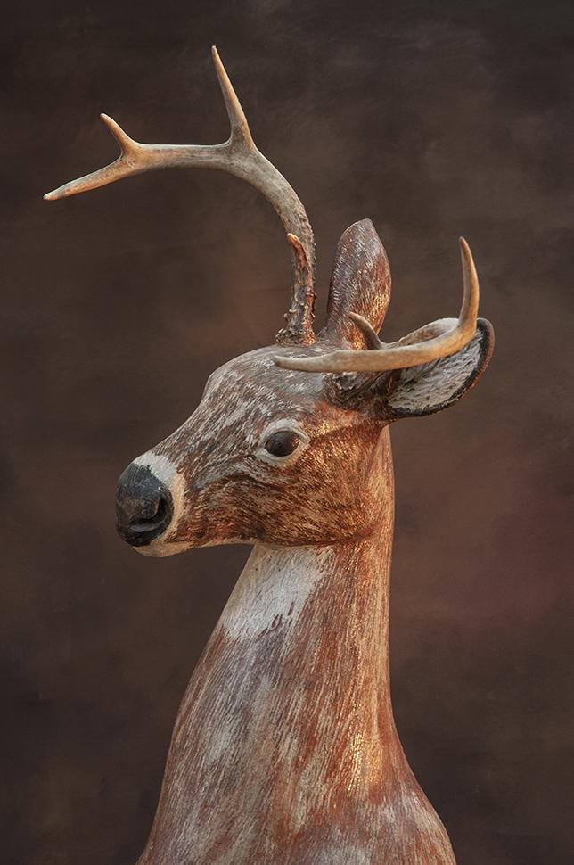 limestone deer sculpture