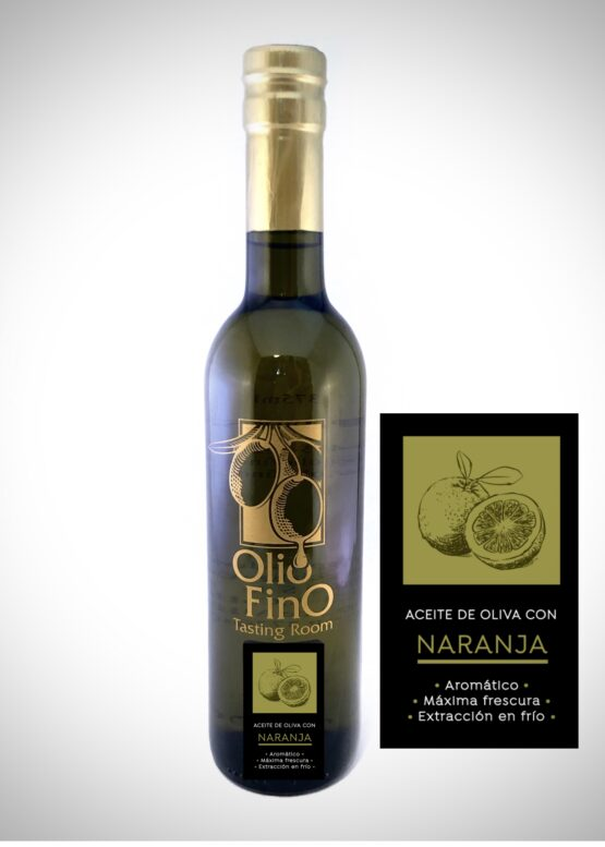 aceite de oliva con naranja