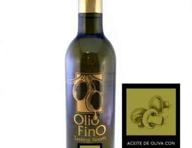 aceite de oliva con hongos y salvia