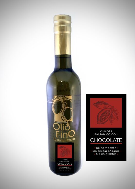 balsamico oscuro con chocolate