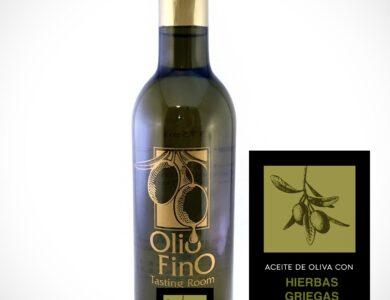 aceite de oliva con hierba griegas