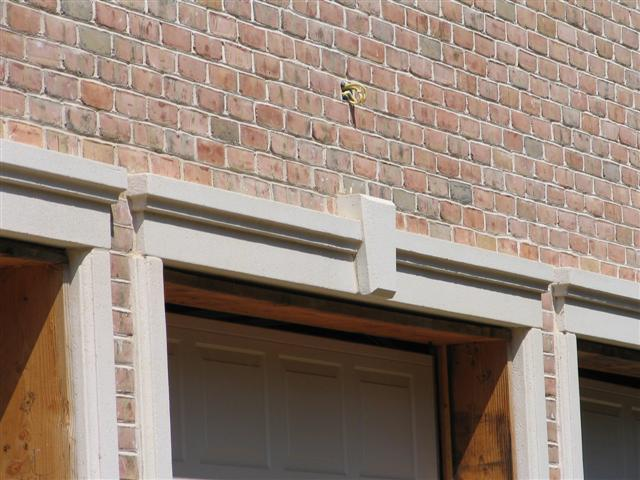 masonry header with key stone