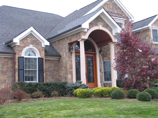 front entrance masonry