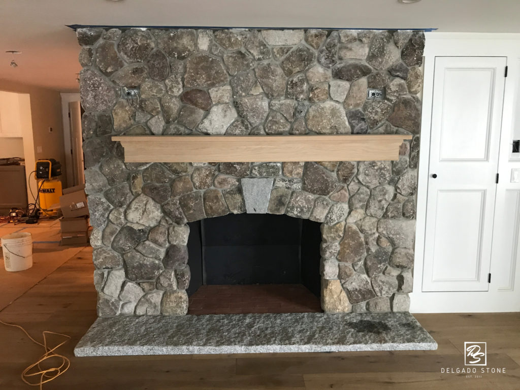Old New England Rounds Fireplace