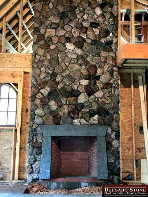 Old New England Rounds Full Fireplace