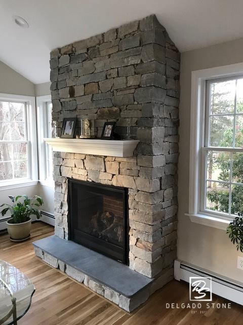 Sterling Tan Ashlar Fireplace