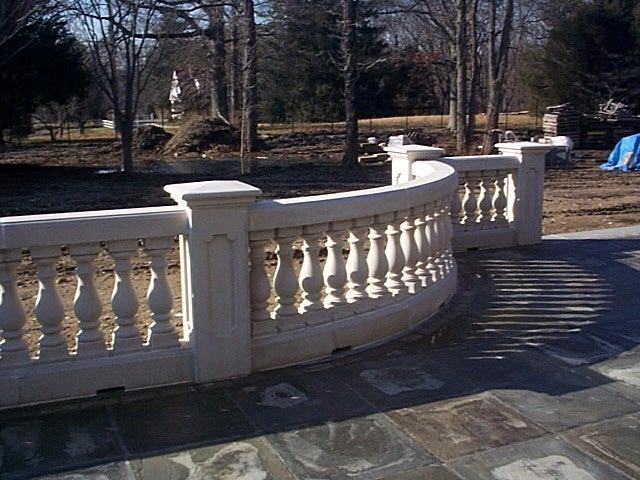 radial concrete railing