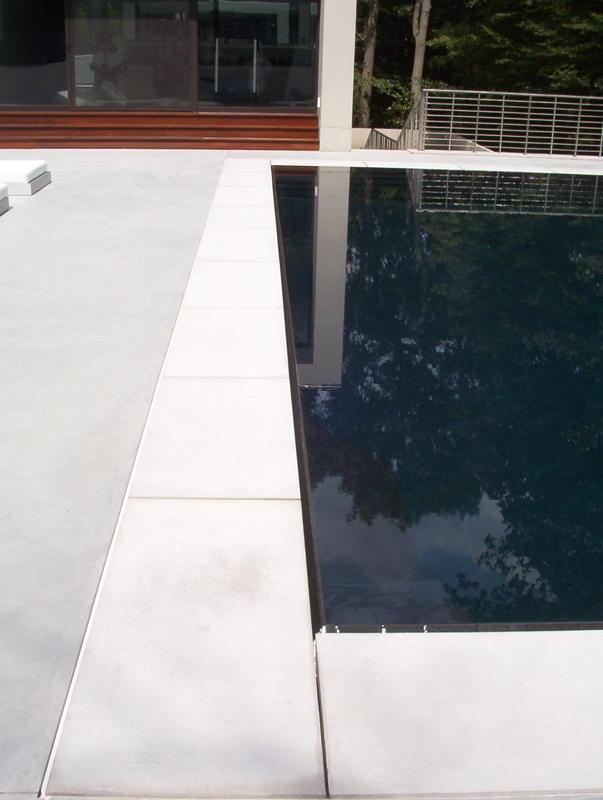 white pool coping