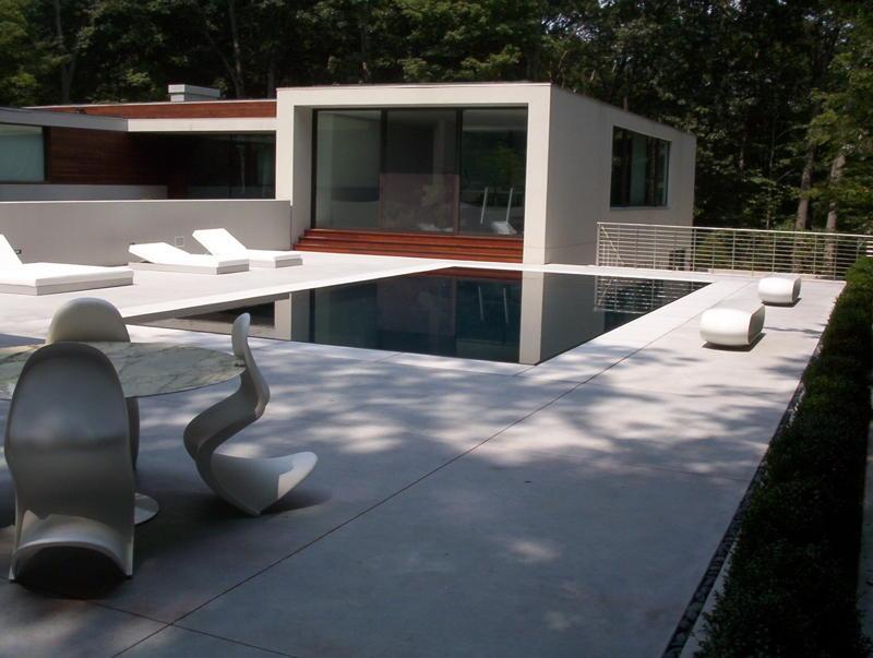 custom precast moderm white pool