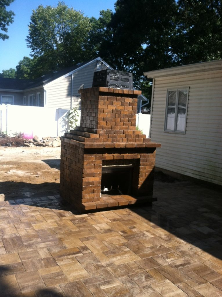 fire place brown outdoor