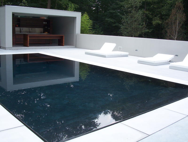 precast, white, pool coping, modern, smooth, long island.