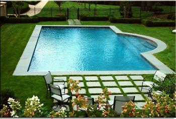 bluestone, radius stone, stone, fabrication, long island, step, patio, backyard pool, grasspool, islip terrace