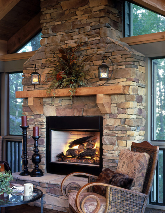 wood fire place