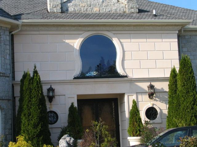custom window concrete wrap