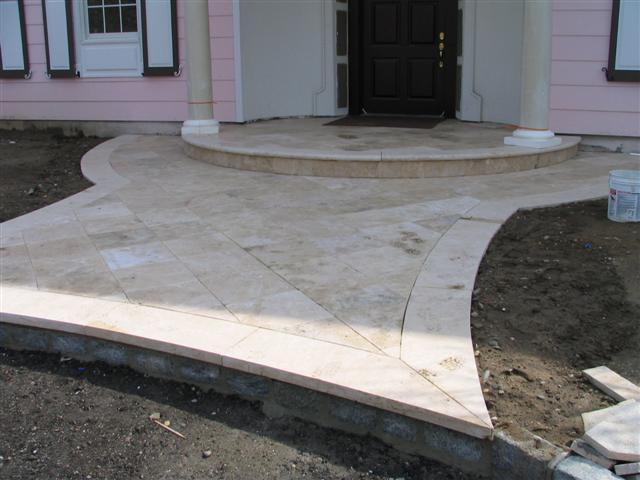 treavertine stoop natural stone