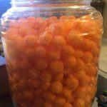 Not kidding about the economy-sized cheese puffs. Not kidding at all.