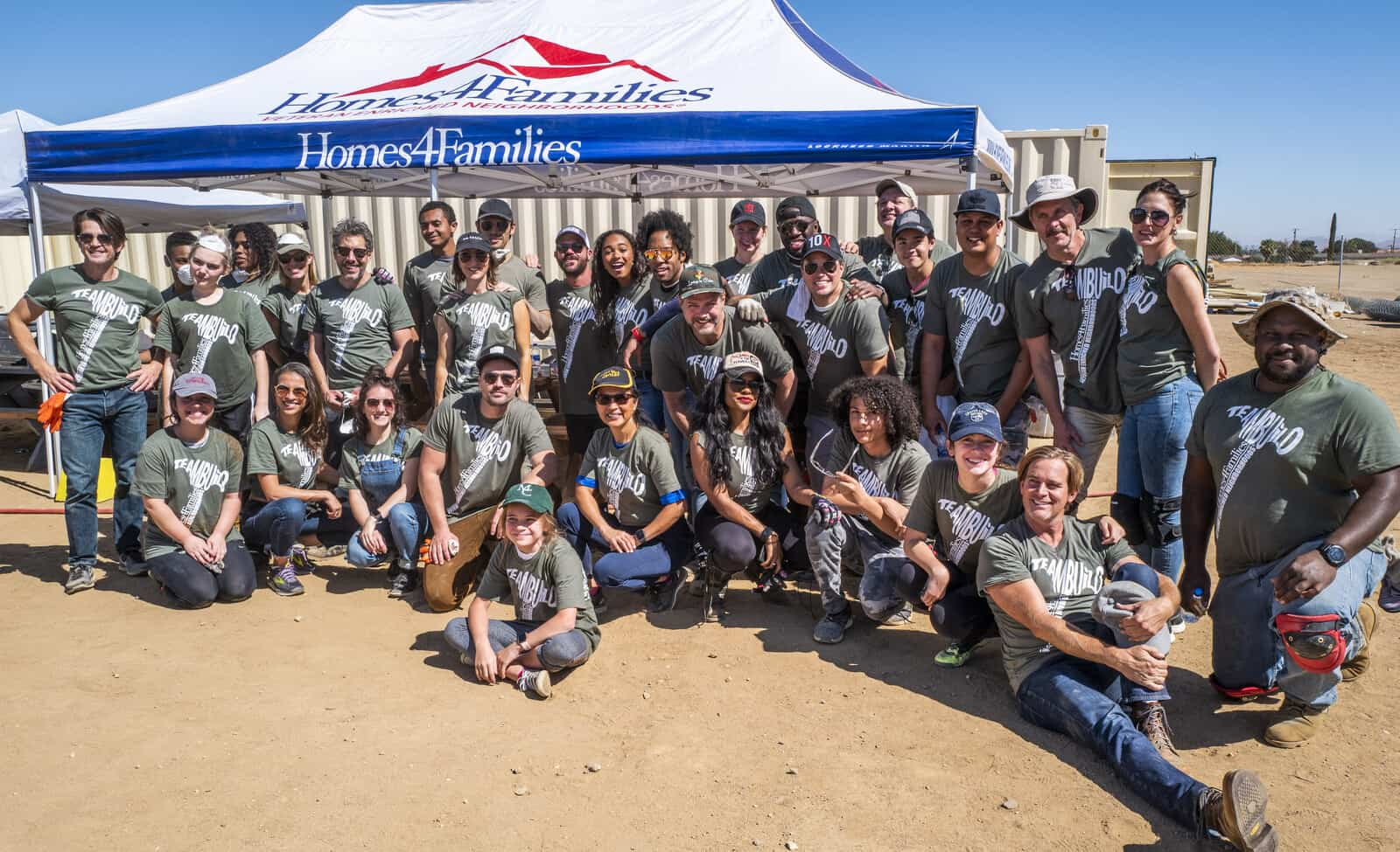 Celebrities Build Homes for Veterans with Homes 4 Families