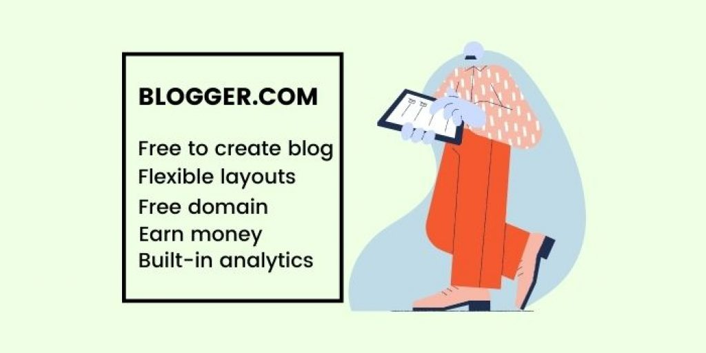 Create a free blog on blogger and earn money