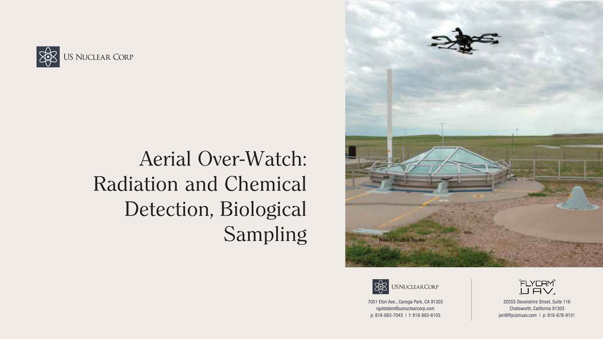 Aerial Over-Watch: Radiation and Chemical Detection, Biological Sampling