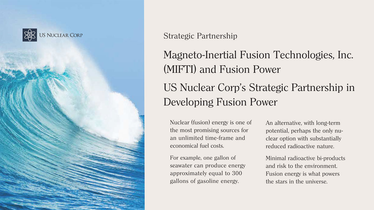 Magneto-Inertial Fusion Technologies, Inc. (MIFTI) and Fusion Power