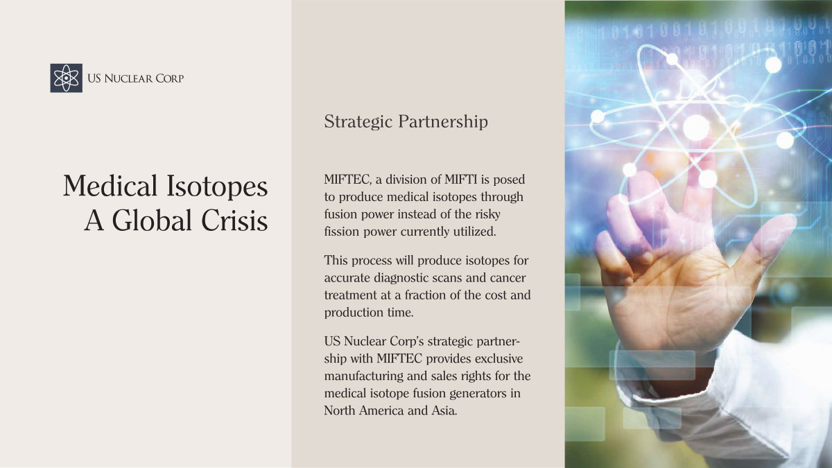 MIFTEC - Medical Isotopes A Global Crisis