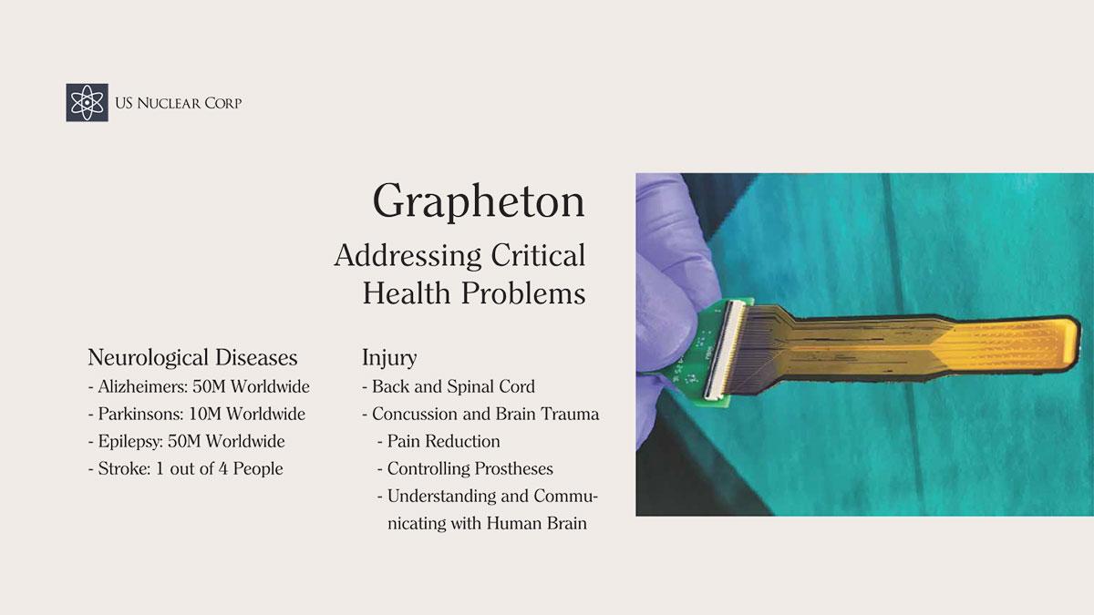 Grapheton Addressing Critical Health Problems