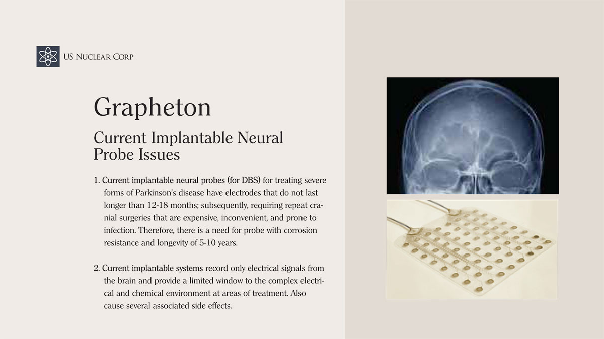 Grapheton Current Implantable Neural Probe Issues