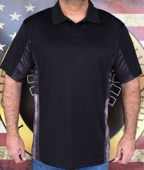 Subdued Style Betsy Ross Flag Polo Shirt.