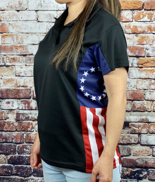 The Betsy Ross Flag Polo Shirt for Women