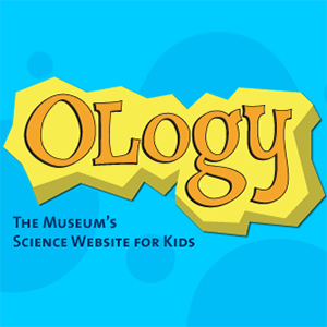 The logo for Ology a science website for kids