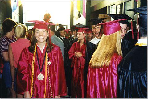 Marijke, high school Valedictorian
