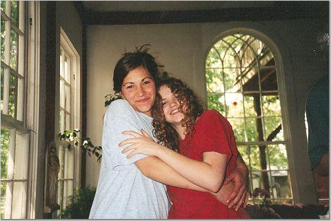 Marijke and cousin Normandy