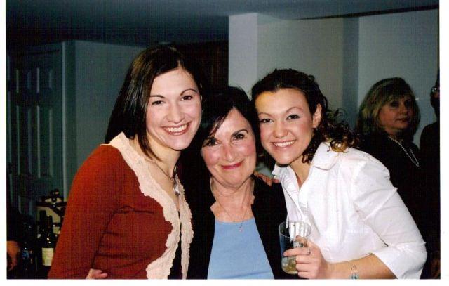 Marijke and Natalie with their Grandma Mimi