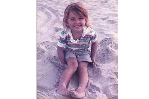 Marijke at the beach