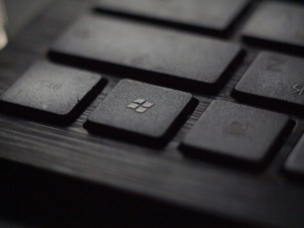 Windows Button on a black keyboard