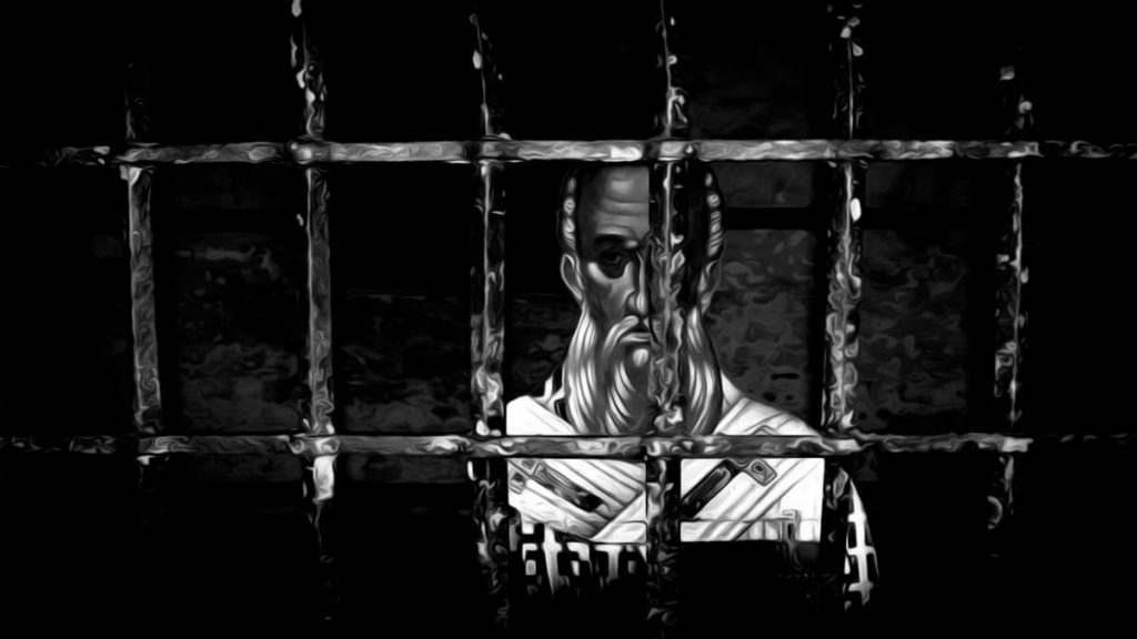 Athanasius of Alexandria behind bars