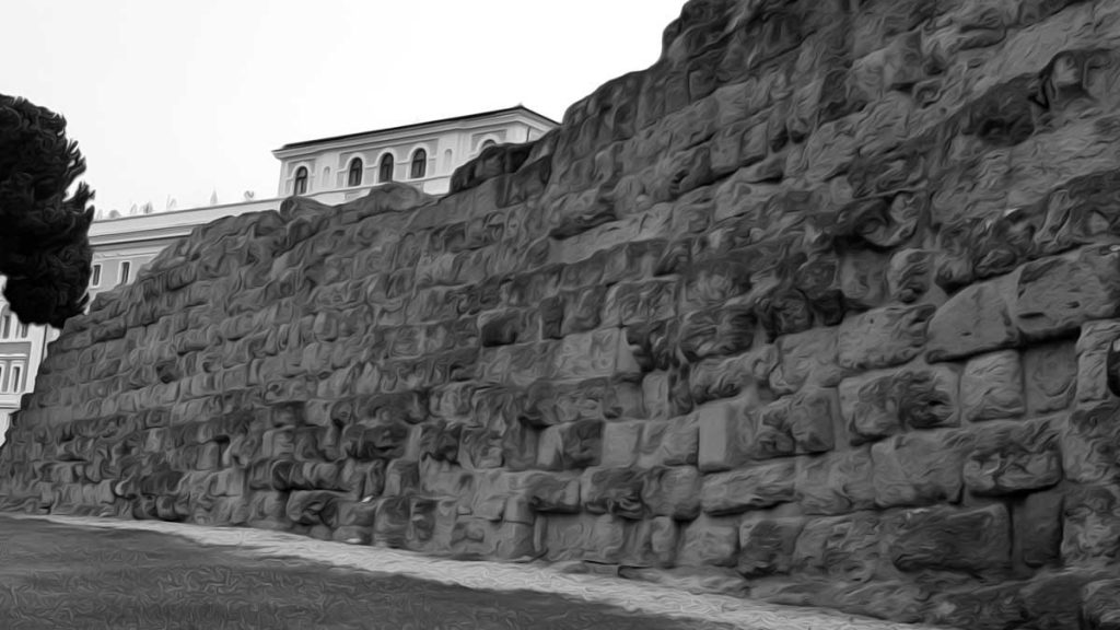 The wall of Servius Tullius