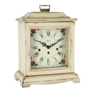 Hermle AUSTEN White Mechanical Mantel Clock 22518-WH0340