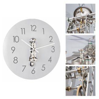 Hermle AVA Nickel Wall Clock 30906-000791