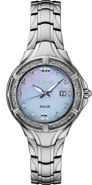 Seiko Diamond Womens Solar Watch SUT371
