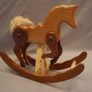 Cherry Rocking Horse