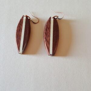 Wood Earrings made from Purple Heart (3A)